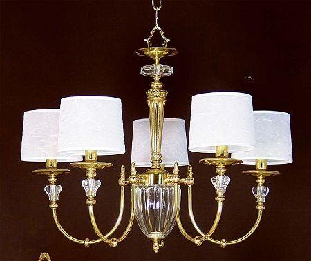 lámparas clásicas de bronce