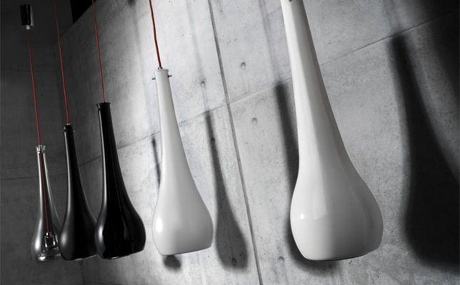 lampara eter en blanco y negro