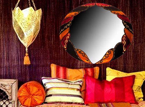 Espejo árabe pintado a mano