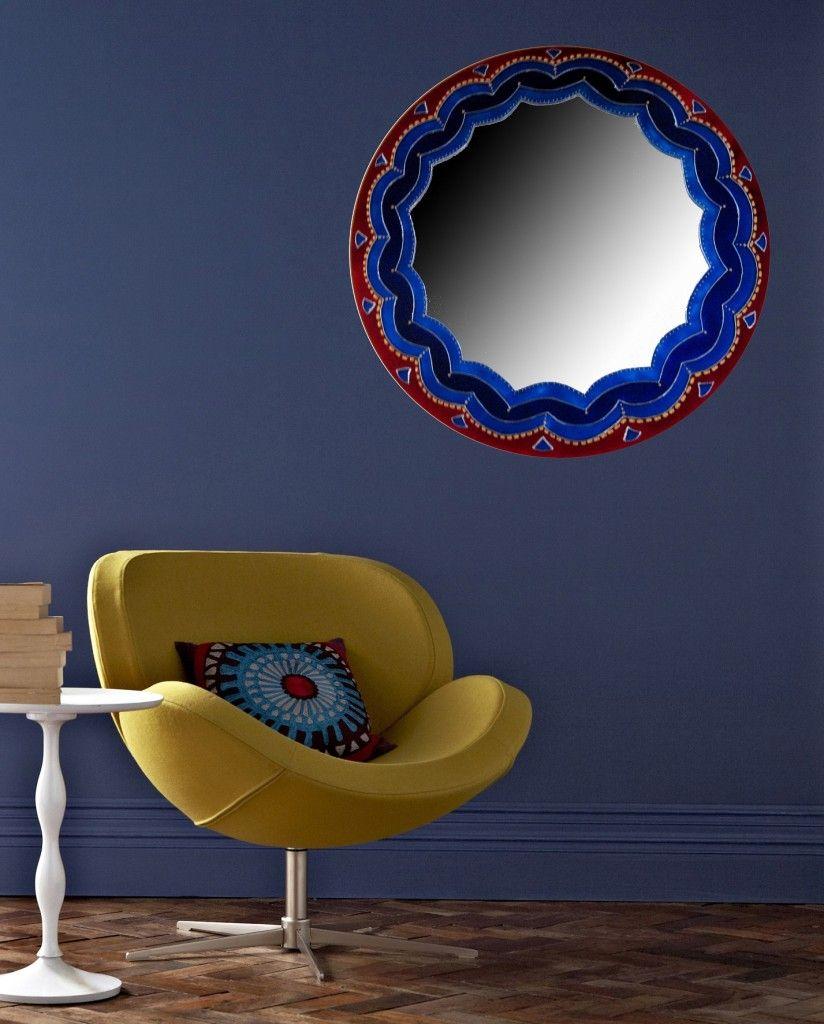 espejos pintados con vitral