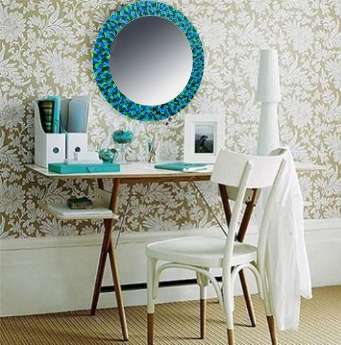 Espejos vitral espejos pintados a mano lamparas sevilla for Mosaicos para espejos