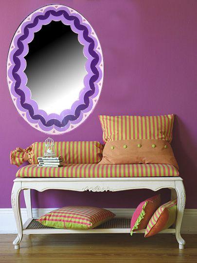 espejos pintados a mano