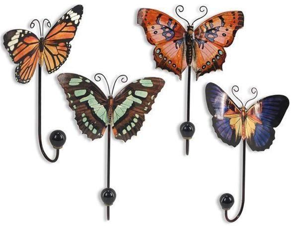 percheros mariposas