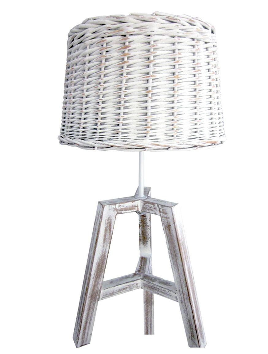 lampara de mesa de mimbre
