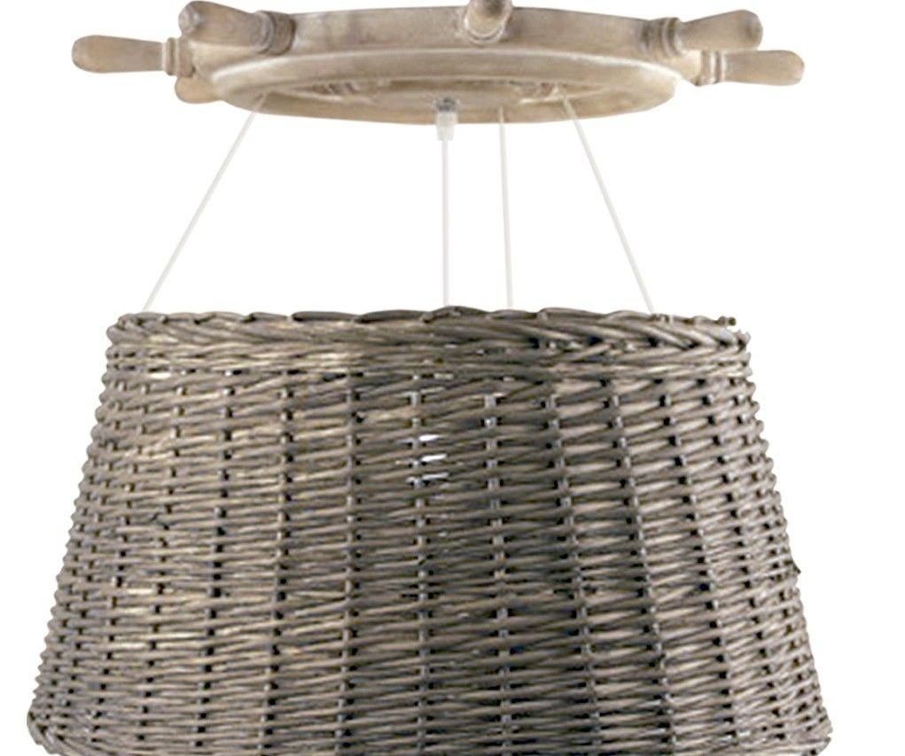 lámpara de ratan