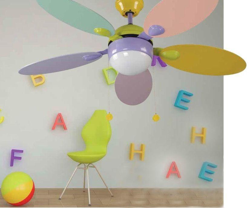Ventiladores de techo infantiles refresca el dormitorio - Lamparas para habitaciones infantiles ...