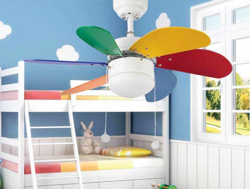 Ventiladores de techo infantiles refresca el dormitorio de tus hij s lamparas sevilla - Lampara techo infantil ...