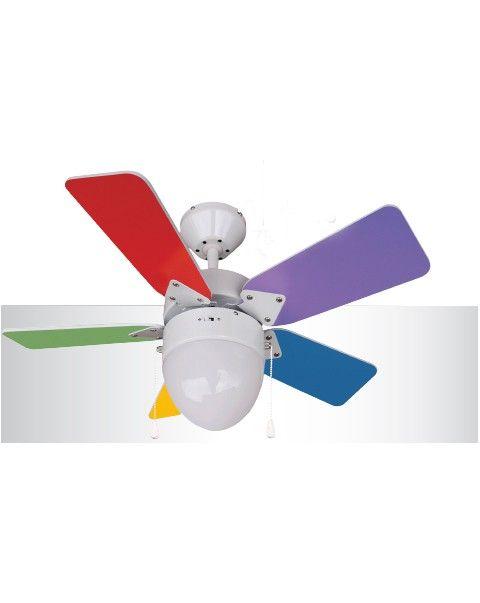 Ventiladores de techo infantiles refresca el dormitorio - Ventiladores de techo para ninos ...
