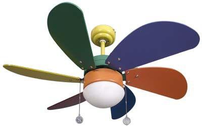 lampara ventilador infantil multicolor