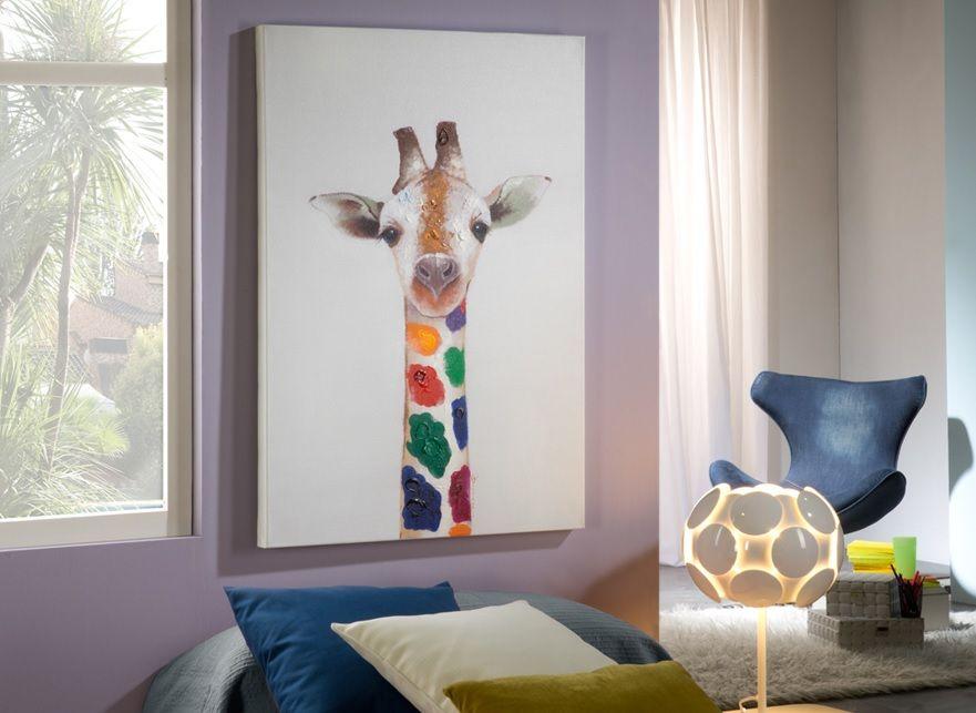 cuadro acrilico jirafa