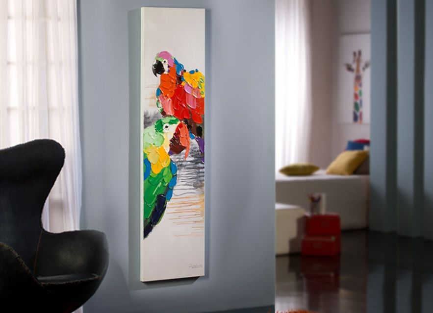 cuadro acrilico parrot