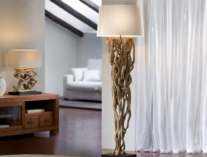 lampara de pie de salon liana