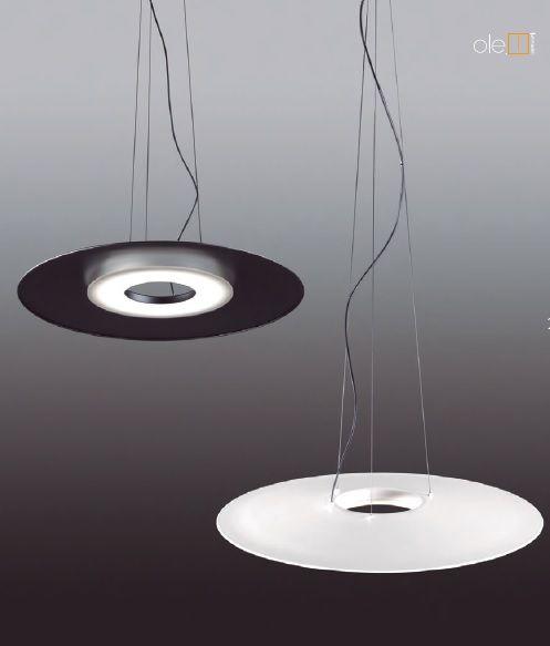 lampara slim color blanco y negro