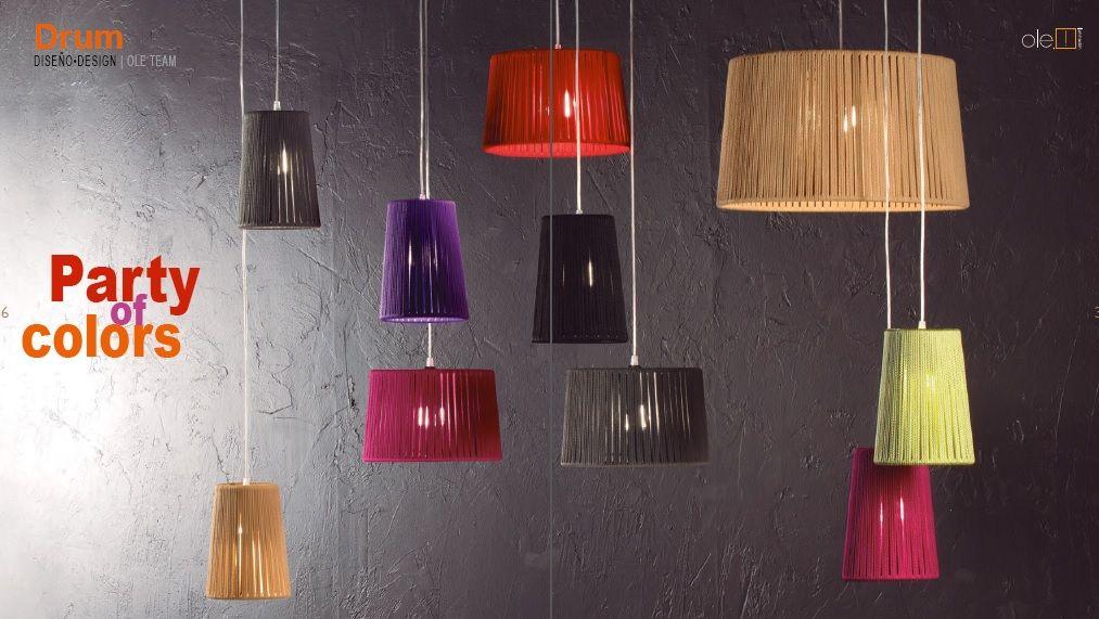 Lámpara Drum. Elige tú Color en su Inmensa Carta de Colores