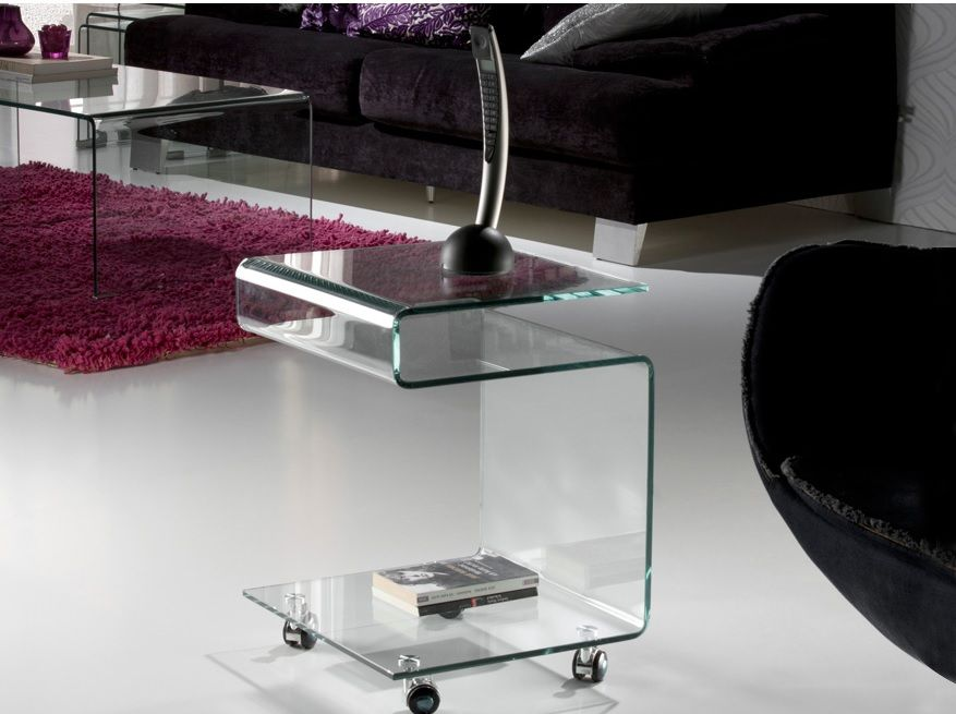 Mesas de cristal templado y curvado muebles auxiliares de - Mesa auxiliar metacrilato ...