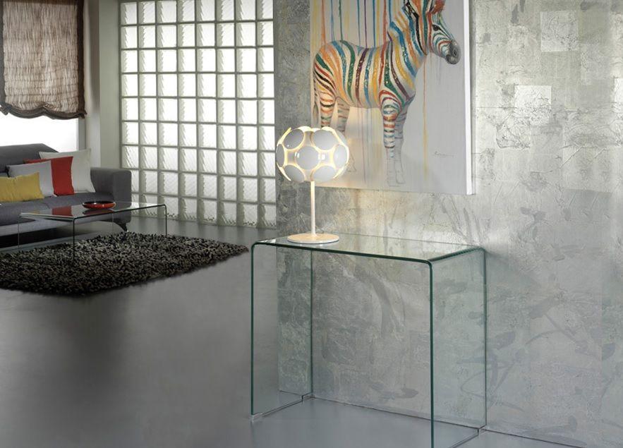 Mesas de Cristal Templado y Curvado. Muebles Auxiliares de Schuller