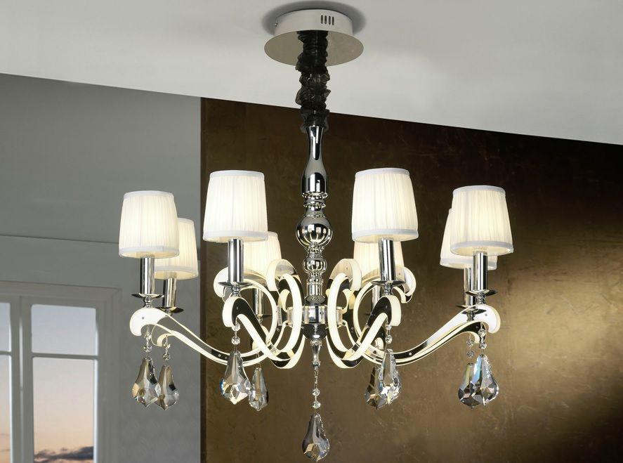 lampara de techo creta de 8 luces