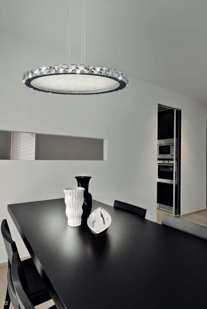 lámpara colgante crystal led