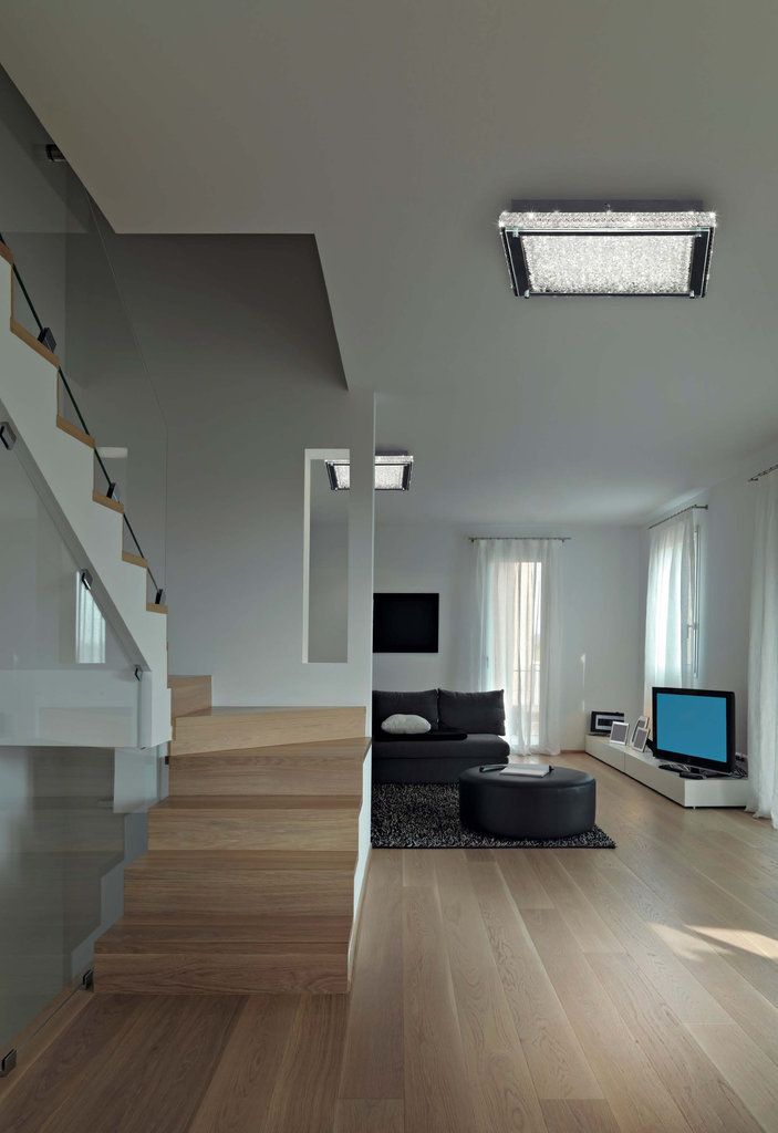plafón de techo crystal led de mantra iluminación