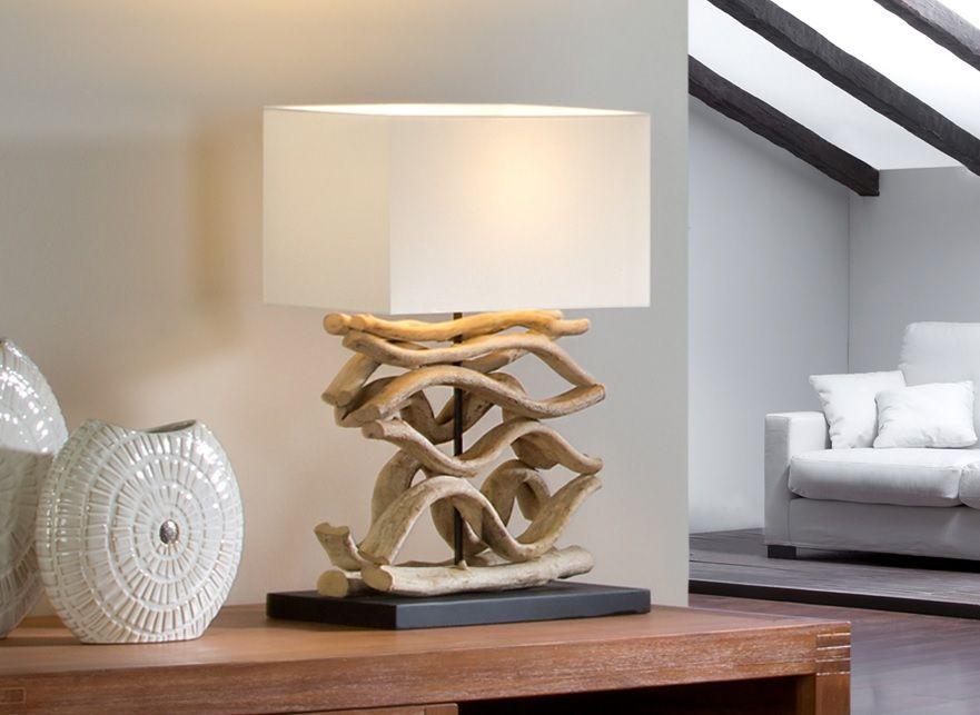 lamparas de troncos