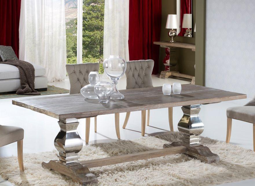 mesa de comedor y sillas antica de schuller