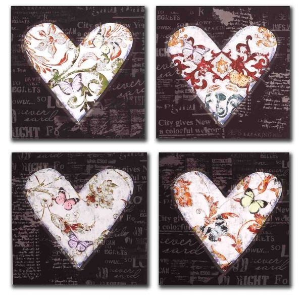 lienzos corazones