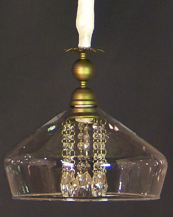 lamparas con tulipas de cristal