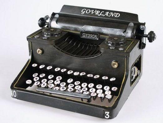 decoracion maquina escribir
