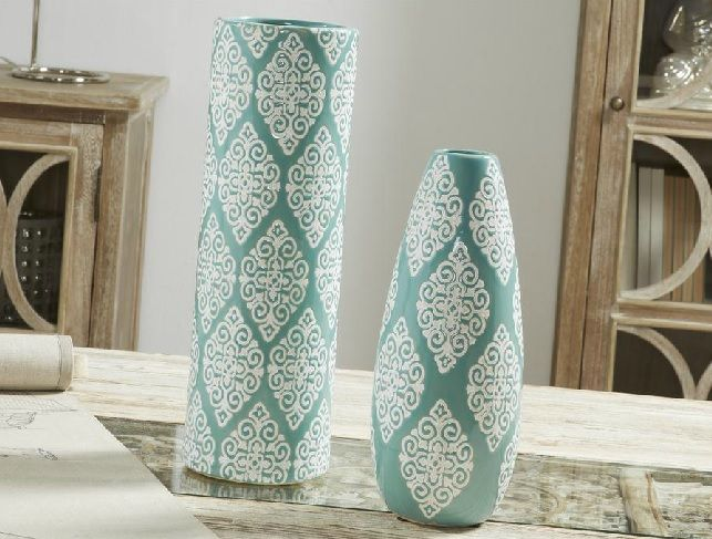 jarrones decorativos turquesa