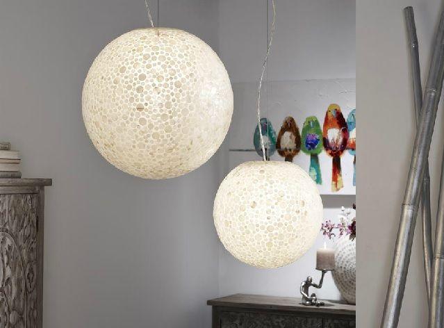 lamparas de techo nacar
