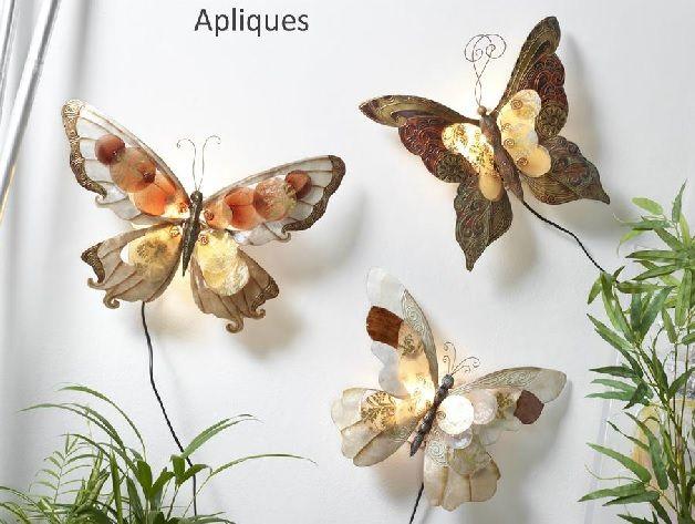 apliques de pared mariposa