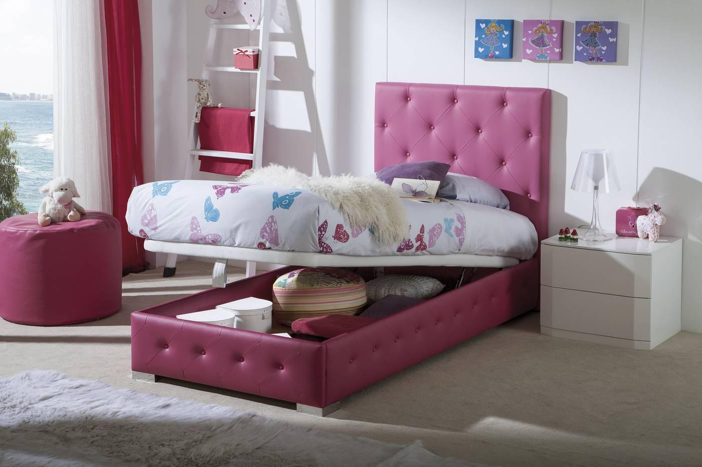 Camas para juveniles dormitorios romnticos en tonos - Camas para chicas ...