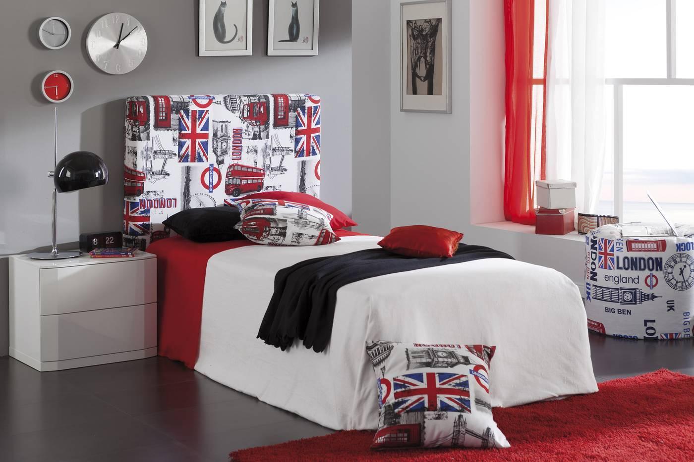 Cabeceros de cama para ni os y j venes lamparas sevilla - Decoracion habitaciones juveniles nino ...
