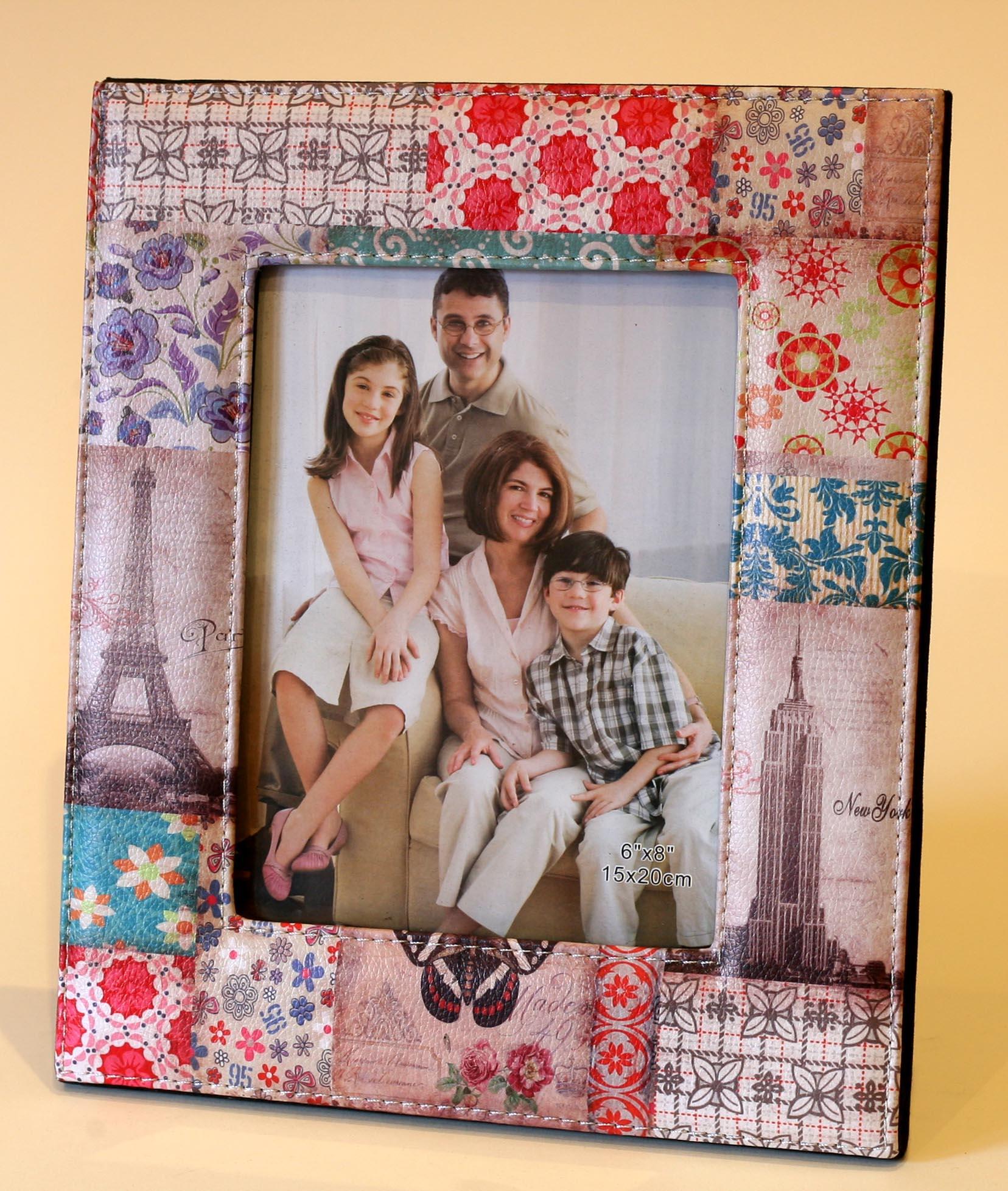 marco de fotos patchwork