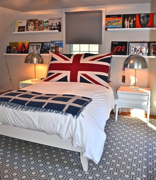decoración juvenil estilo británico