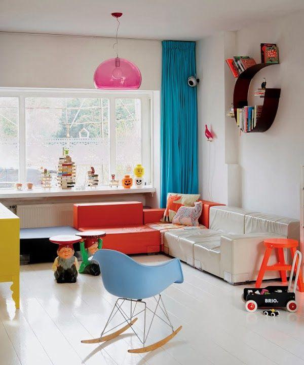 decoracion salón de juegos infantil