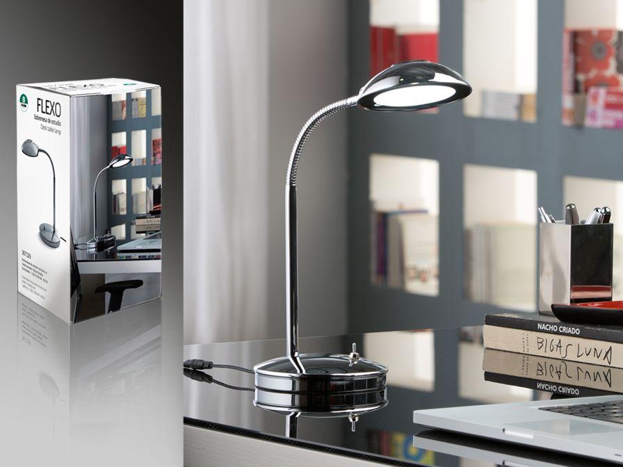 lámpara sobremesa estudio flexo