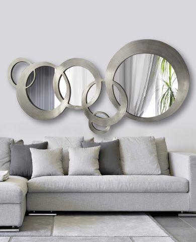 espejos de diseño plata