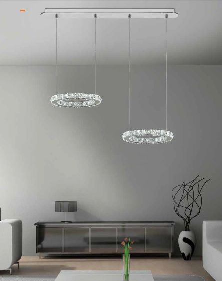 lampara led cristal