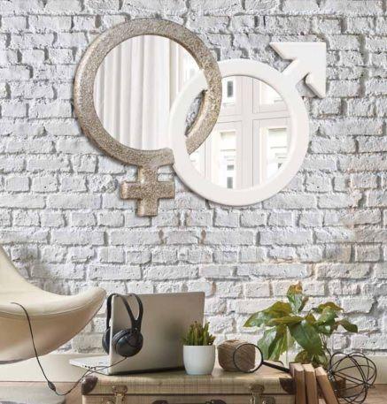Espejo de diseño ying yang
