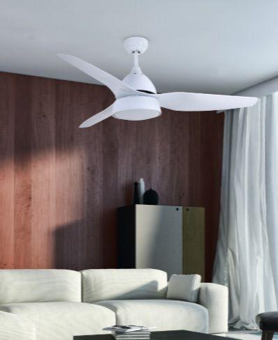 ventiladores de diseño blancos