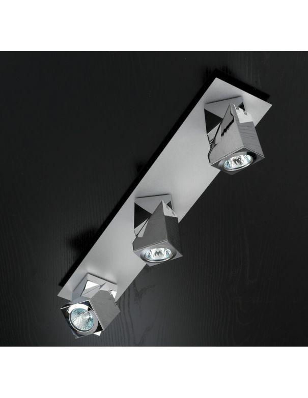 Regleta con 3 focos cromo orientables practyk - Focos para salon ...