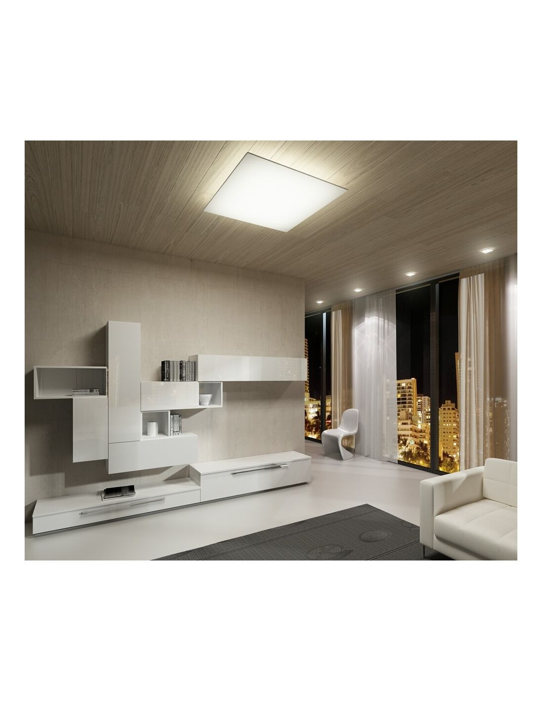 Plafones de tela lavables de fm iluminaci n - Plafones para salon ...