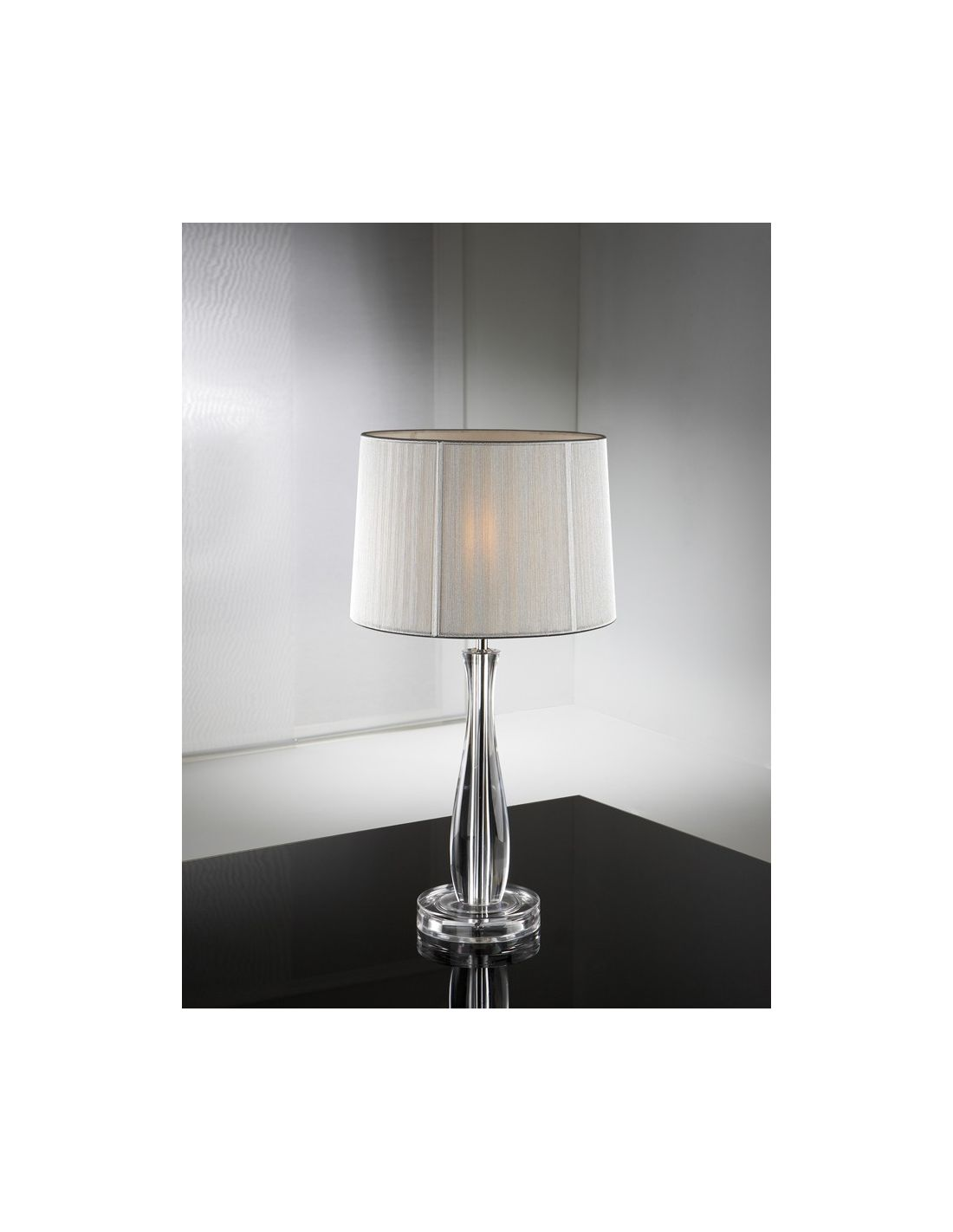 Sobremesa lin transparente de schuller iluminaci n env o - Lampara mesa comedor ...