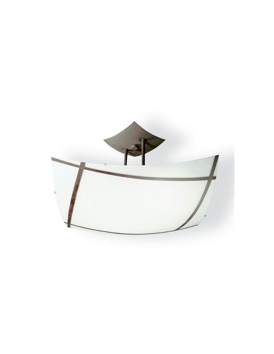 L mpara de techo con plato de cristal acabado forja envejecida - Venta de lamparas de techo ...