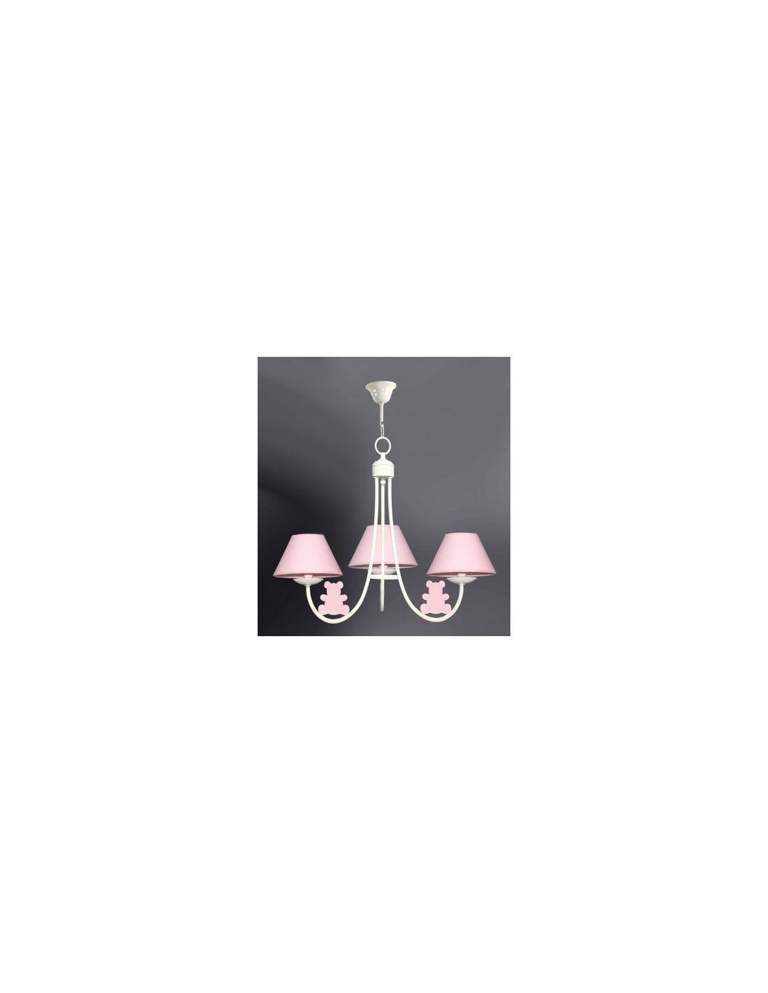 L mpara infantil osos rosa superventas - Venta de lamparas de techo ...