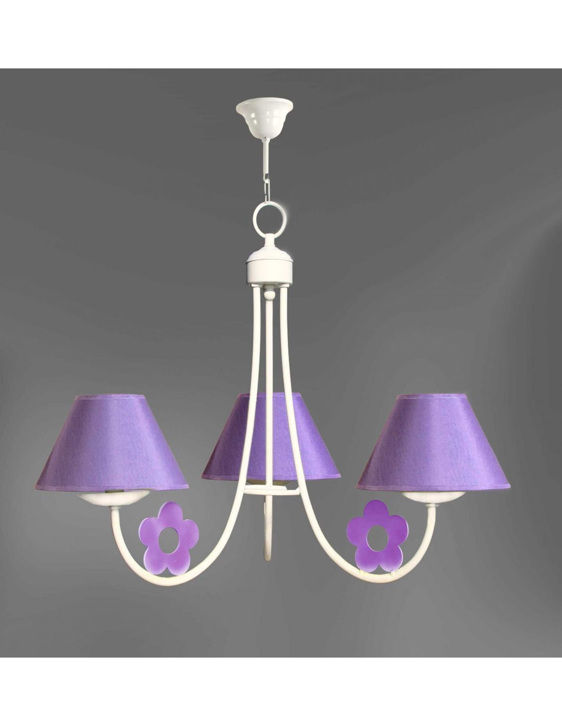 Margarita color lila l mpara con 3 pantallas para - Comprar lamparas de techo ...