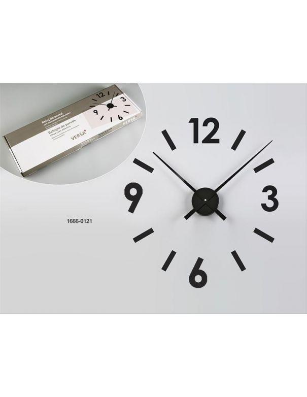 Reloj de Pared Pegatina Negro