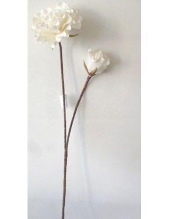 Flor Artificial Doble Blanca