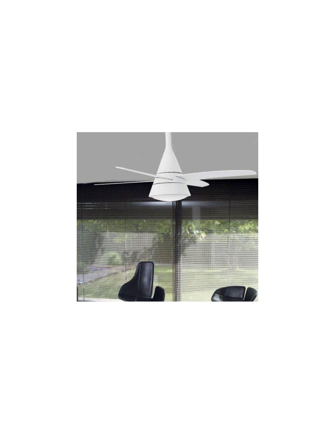 Ventilador de techo de dise o con palas blancas env o - Ventilador techo diseno ...